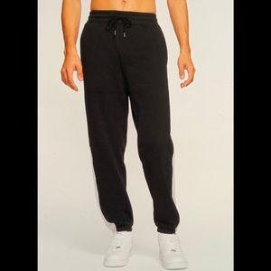 Hurley Onshore Men's Fleece Black Pants (Med)